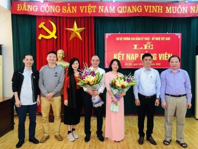 Lễ kết nạp đảng viên mới cho hai quần chúng ưu tú đang công tác tại trường.